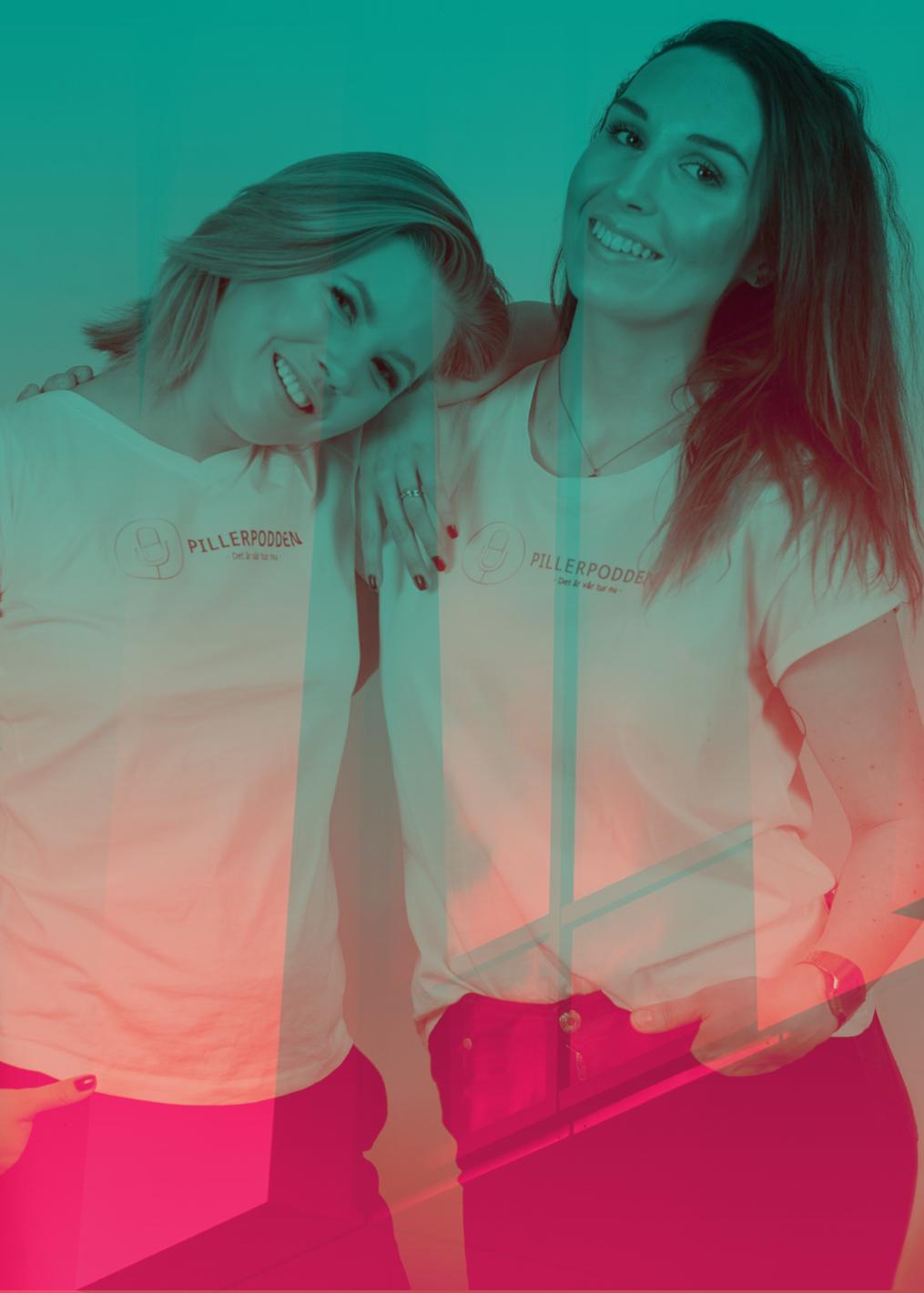 Pillerpodden Siri Strand och Emma Westas Rödin. Foto Jesper Mattsson.